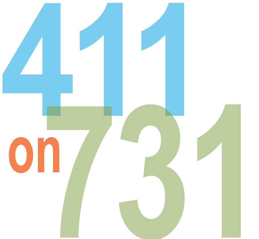 411 on 731 logo