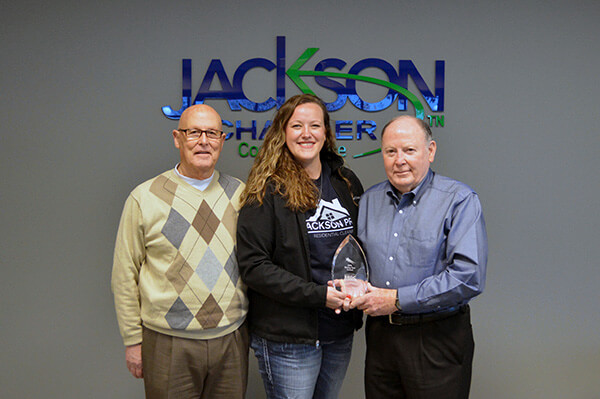 Jackson Pride receives award