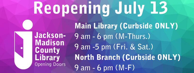 Library hours for July 13, 2020